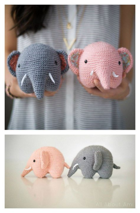elefante bebe crochet-otakulandia.es (24)