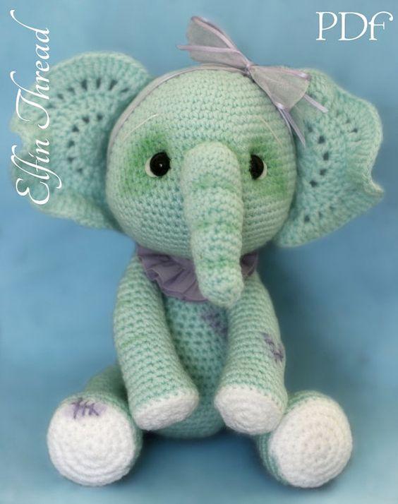 elefante bebe crochet-otakulandia.es (26)