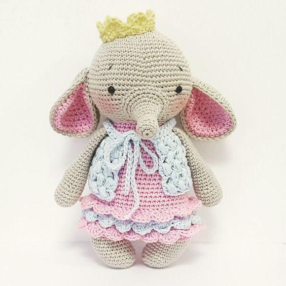 elefante bebe crochet-otakulandia.es (28)
