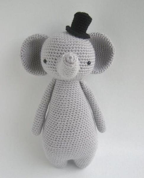 elefante bebe crochet-otakulandia.es (3)