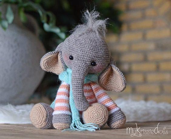elefante bebe crochet-otakulandia.es (30)