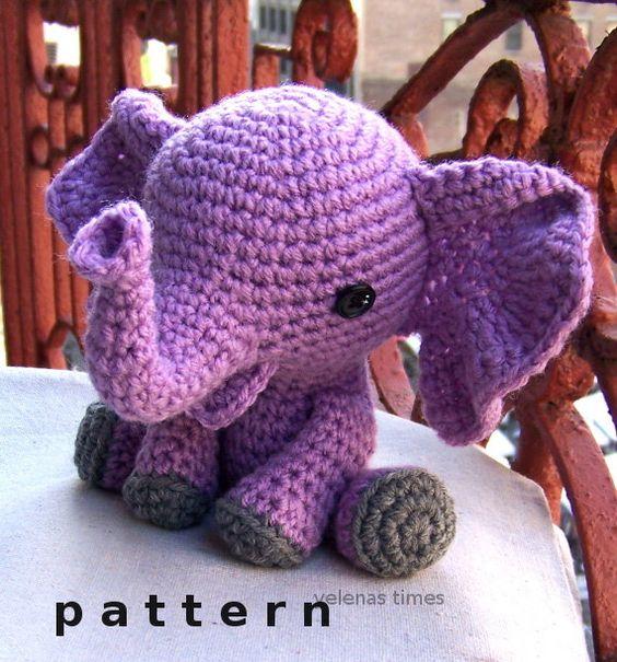 elefante bebe crochet-otakulandia.es (32)