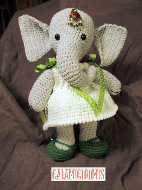elefante bebe crochet-otakulandia.es (34)