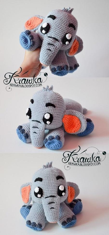 elefante bebe crochet-otakulandia.es (35)