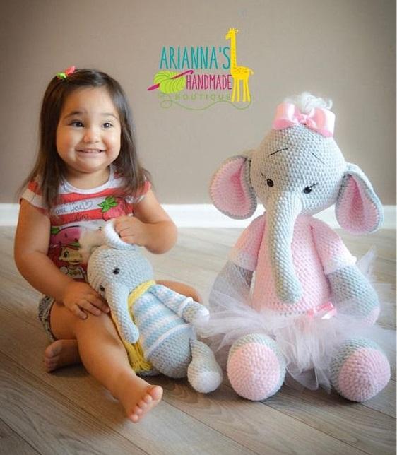 elefante bebe crochet-otakulandia.es (37)