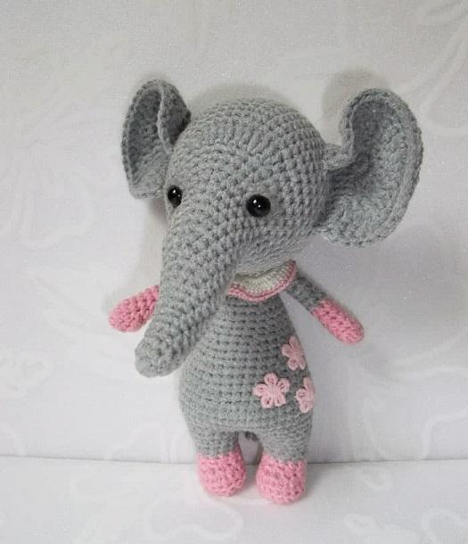 elefante bebe crochet-otakulandia.es (5)