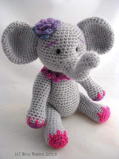 elefante bebe crochet-otakulandia.es (6)