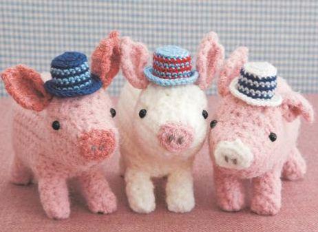 figura animal realista crochet-cerdo-otakulandia.es
