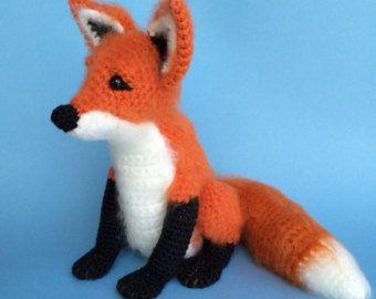figura animal realista crochet-zorro-otakulandia.es