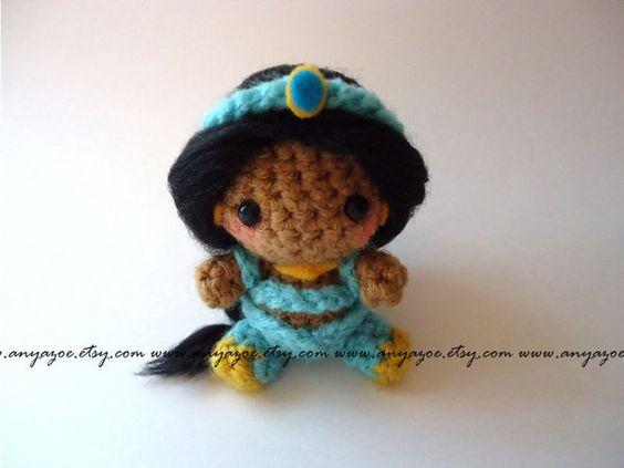 princesas disney crochet-otakulandia.es