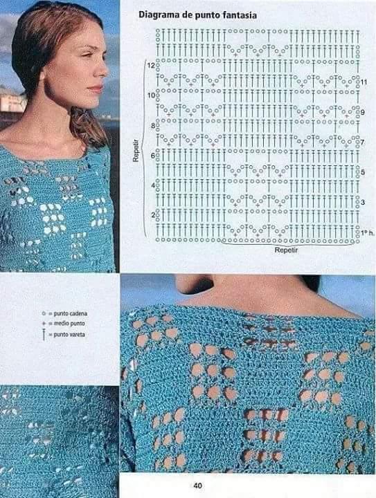 blusa azul motivos geometricos-otakulandia.es