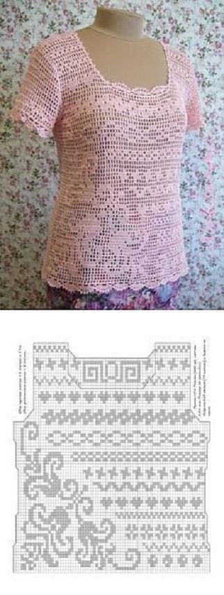 blusa rosa crochet-otakulandia.es