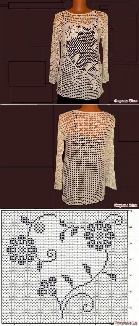 camiseta flores crochet-otakulandia.es