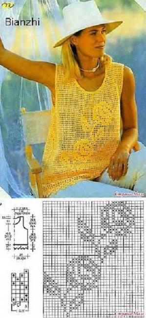 camiseta-rosas-amarillas-crochet-otakulandia.es_