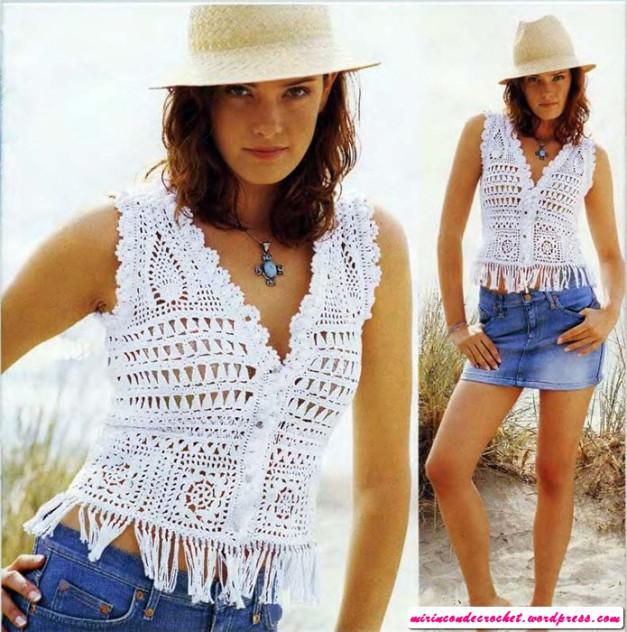 bolero blanco flecos crochet-otakulandia.es (1)