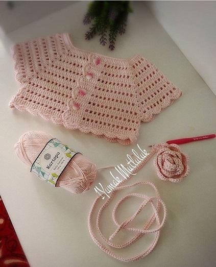 bolero-chaqueta bebe crochet-otakulandia.es (1)