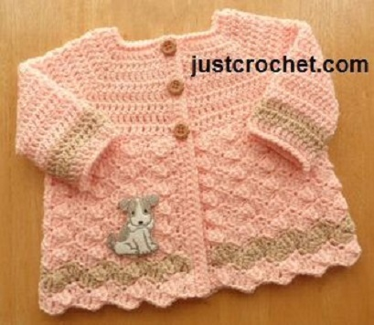 bolero-chaqueta bebe crochet-otakulandia.es