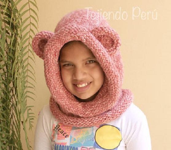 cómo-tejer-un-cuello-con-capucha-con-orejas-de-oso-knitted-bear-hooded-cowl