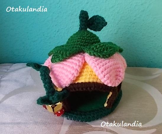 casa gnomo flor crochet-agapornis-otakulandia.es (5)