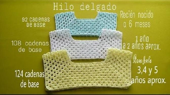 corpino vestido crochet-tallaje-esquema-otakulandia.es
