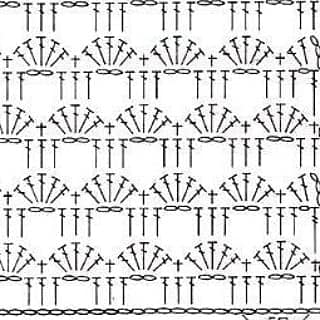esquema punto abanico crochet-otakulandia.es