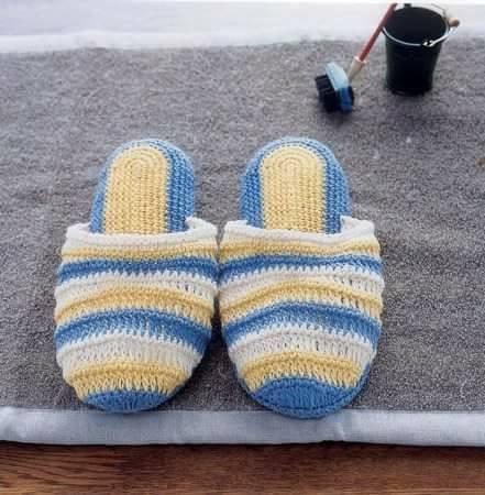 pantuflas chancla crochet-senora-otakulandia.es (1)