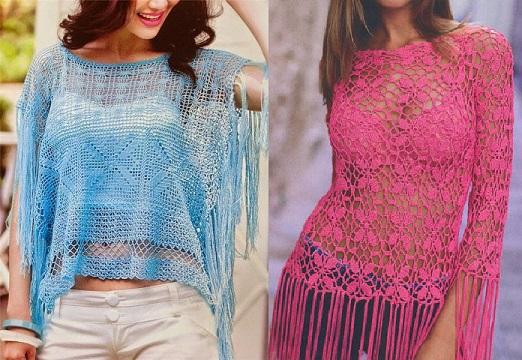 poncho-azul-flecos-crochet-otakulandia.es-1