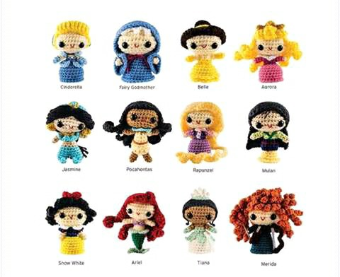 princesas disney chibi crochet-otakulandia.es (1)