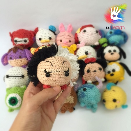 princesas disney chibi crochet-otakulandia.es (7)