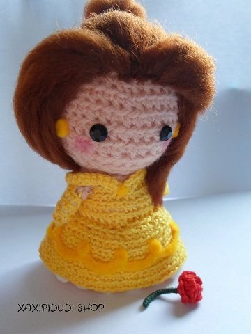princesas disney chibi crochet-otakulandia.es (9)
