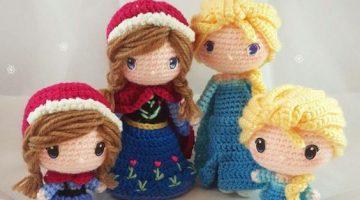 princesas disney chibi crochet-otakulandia.es