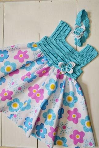 vestido bebe crochet-otakulandia.es