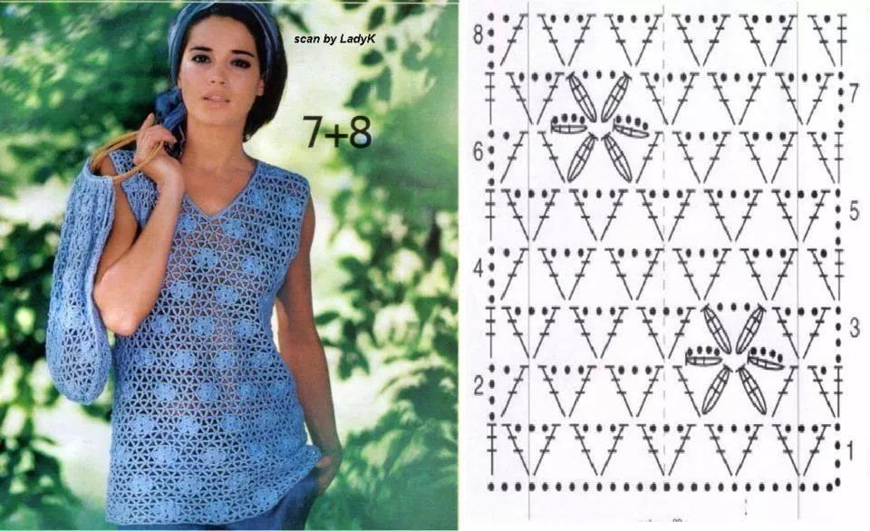 blusa crochet punto estrella-otakulandia.es