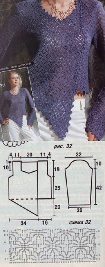 blusa desigual crochet-otakulandia.es