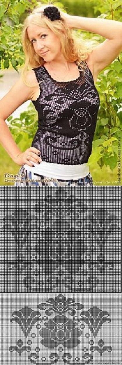 blusa negra crochet-esquemas-otakulandia.es