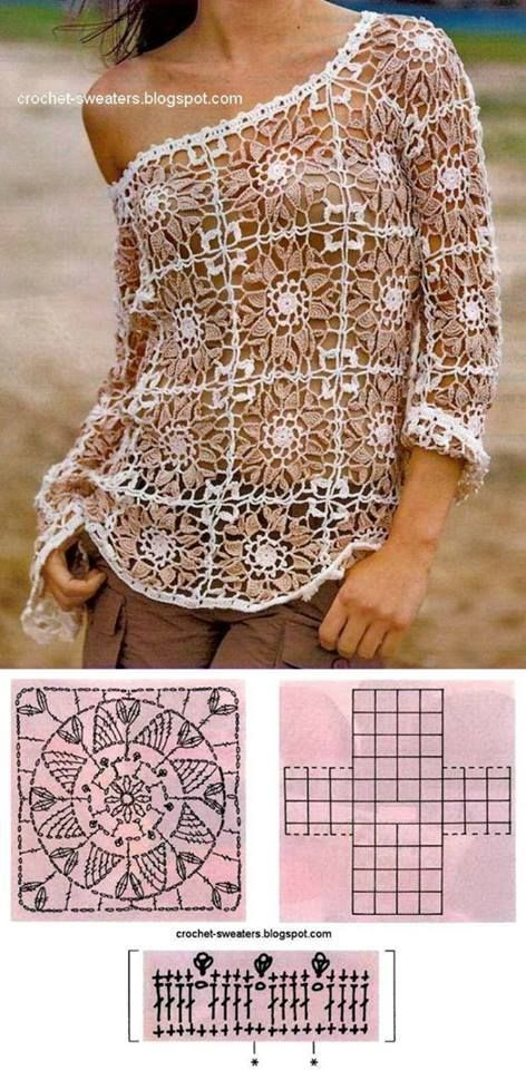 blusa verano grannys crochet-otakulandia.es