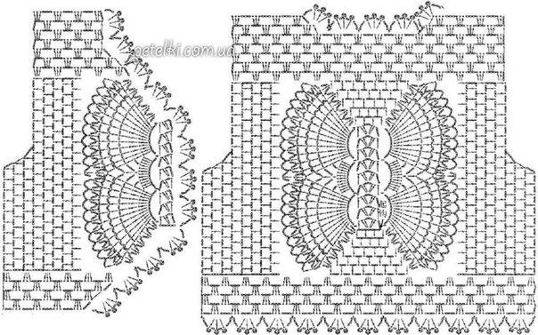 bolero mariposa crochet-esquema-otakulandia.es