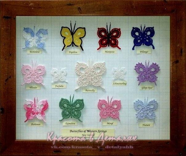 cuadro apliques mariposas crochet-otakulandia.es