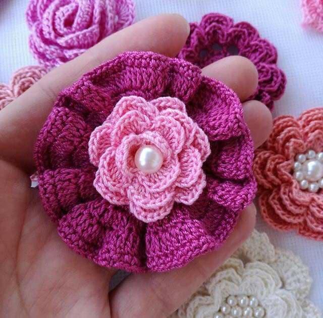 flores apliques crochet-otakulandia.e (10)