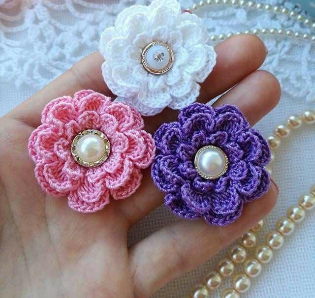 flores apliques crochet-otakulandia.e (18)