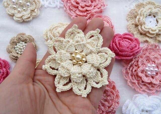 flores apliques crochet-otakulandia.e (28)