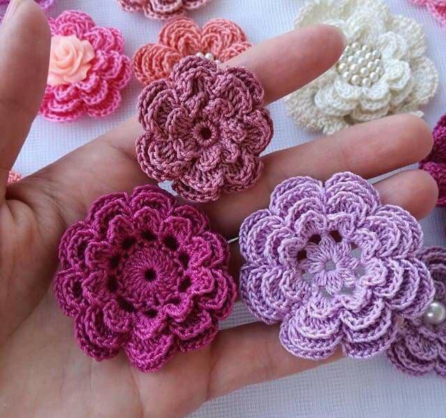 flores apliques crochet-otakulandia.e (5)