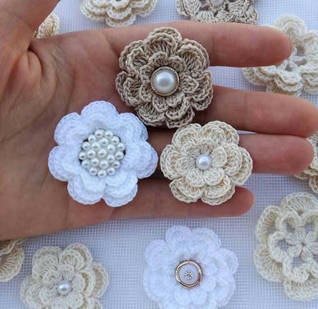 flores apliques crochet-otakulandia.e (9)