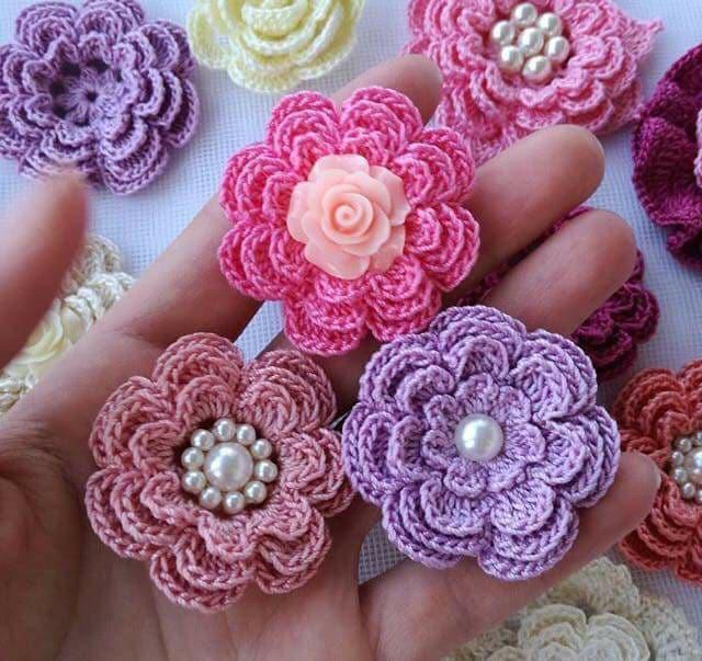 flores apliques crochet-otakulandia.es (1)