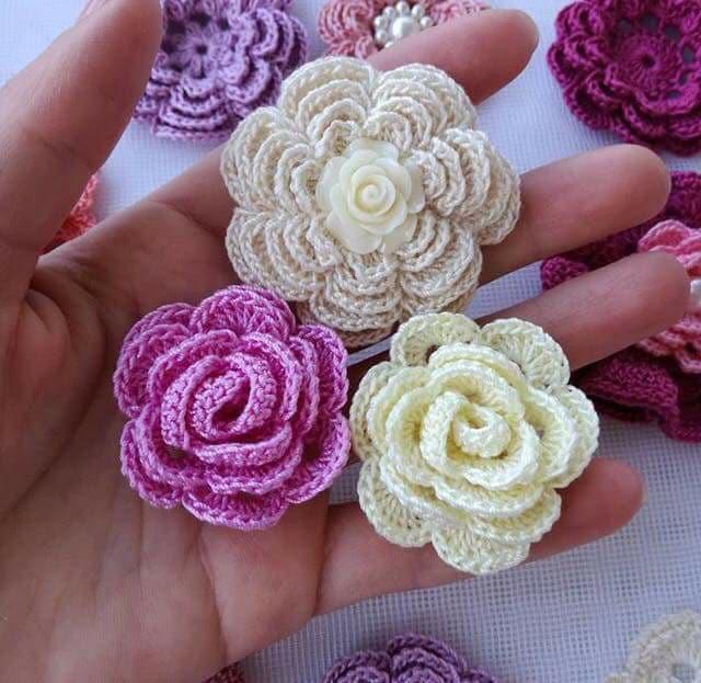 flores apliques crochet-otakulandia.es (3)