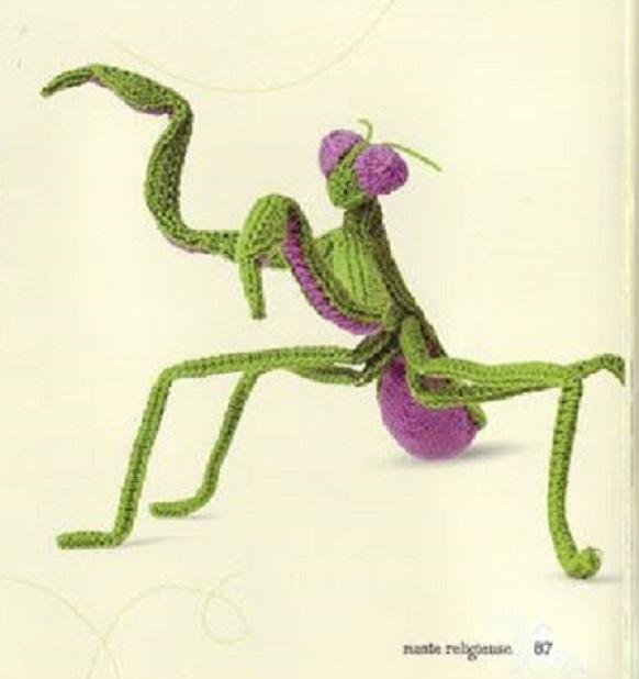 mantis religiosa amigurumi-otakulandia.es