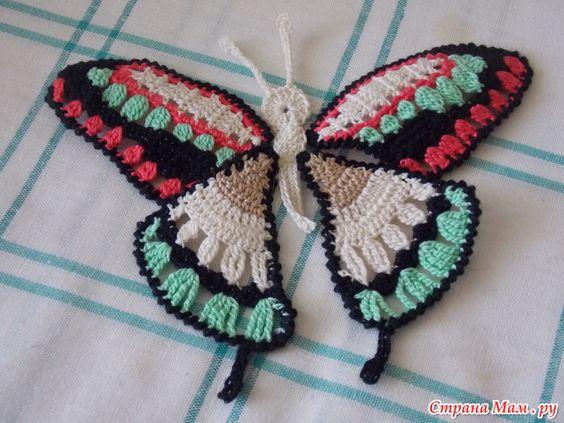 mariposa crochet-otakulandia.es