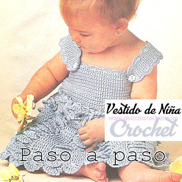vestido naranja-crochet-nina-otakulandia.es