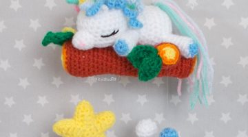 bebe unicornio-movil cuna-crochet-otakulandia.shop