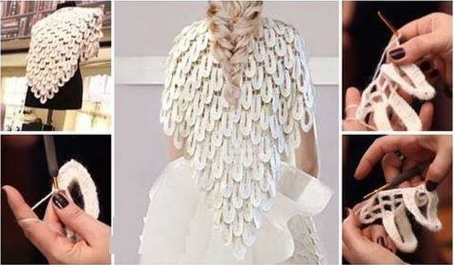 capa novia plumas crochet-otakulandia.es